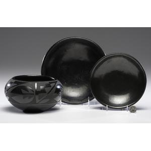 Santa Clara Pottery Plates and Bowl