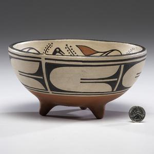 Robert Tenorio (Kewa, b. 1950) Footed Pottery Bowl