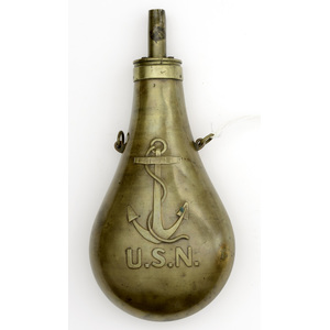 Brass Fouled Anchor Flask by N.P. Ames Co