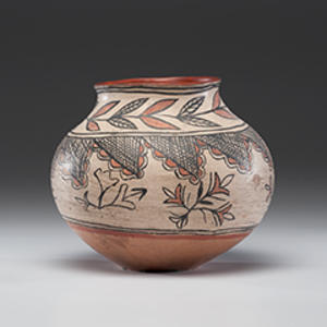 San Ildefonso Polychrome Pottery Olla From the Collection of John O. Behnken, Georgia