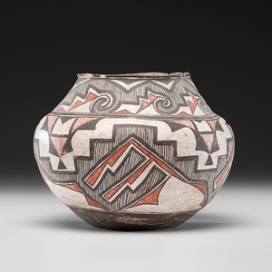 Zuni Polychrome Pottery Olla From the Collection of John O. Behnken, Georgia