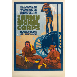 US Army Signal Corps World War I Recruitment Poster