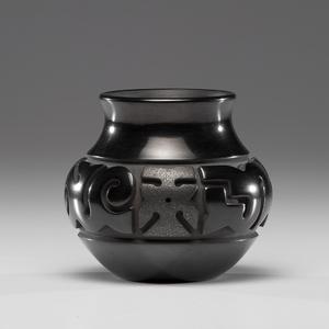 Nathan Youngblood (Santa Clara, b. 1954) Carved Pottery Bowl