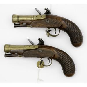 Pair Of Flintlock Blunderbuss Pistols By Alex Thompson
