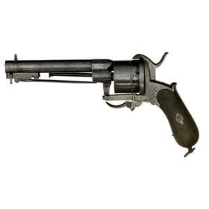 Pinfire Revolver With Folding Bayonet
