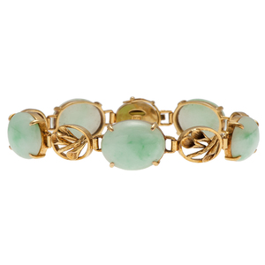 Jade Bracelet in 14 Karat Yellow Gold