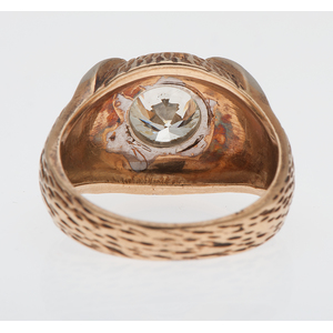 2.35 Carat Diamond Ring in 14 Karat Two Tone