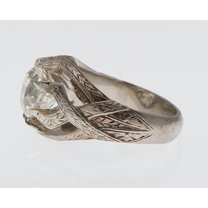 3.30 Carat Diamond Ring in 18 Karat White Gold