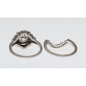 2.75 Carat Wedding Set in Platinum