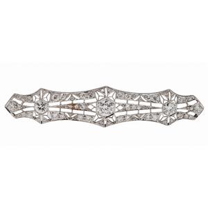 Vintage Diamond and Platinum Brooch