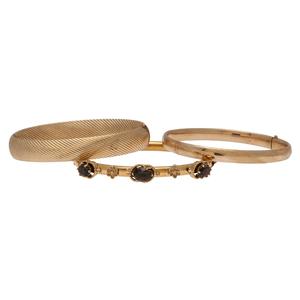 Bangle Bracelets in 14 Karat Yellow Gold