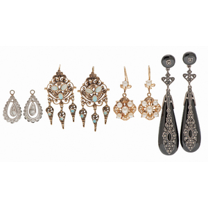Diamond and Gemstone Earrings in Silver and Gold