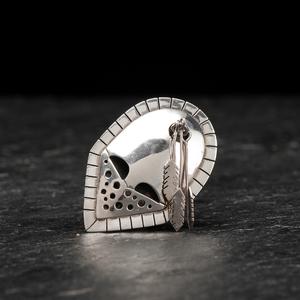 Denice Wallace (Aleut, b. 1957) Sterling Silver Pendant / Pin