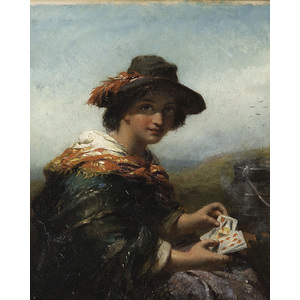 Old Master Painting of a Card Player