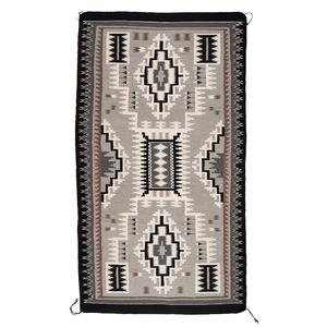 Violet Hosteen (Dine, 20th century) Storm Pattern Navajo Weaving / Rug