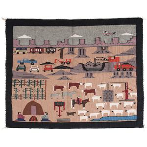 Navajo Pictorial Weaving / Rug From the Collection of John O. Behnken, Georgia