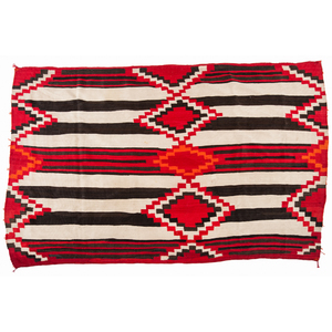 Navajo Third Phase Variant Chief's Blanket / Rug From the Collection of John O. Behnken, Georgia