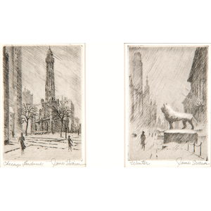 James Swann (American, 1905-1985) Etchings, Lot of Two