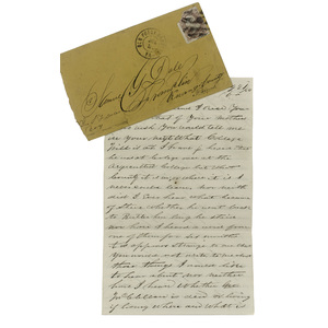 Civil War ALS from Joseph McClellan, 5th Pennsylvania Cavalry, from Bermuda Hundred, VA, Mentioning Hatred for the War and Abolitionists