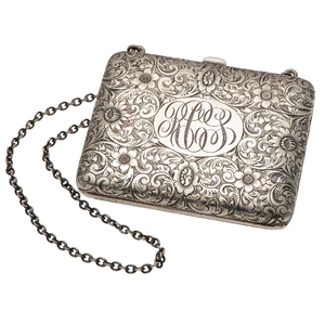Sterling Silver Engraved Clutch