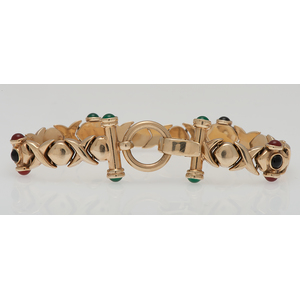 Stampato Gemstone Bracelet in 14 Karat Yellow Gold