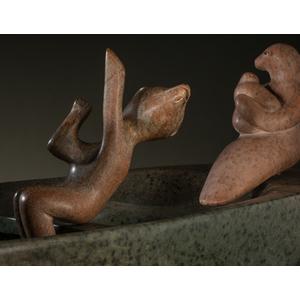 Abraham Anghik Ruben (Inuit, b. 1951) Attributed Stone Sculpture