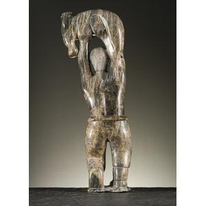 Kabubuwa (Qavaroak) Tunnillie (Inuit, 1928-1993) Attributed Stone Sculpture