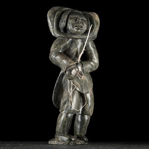 Kiagak Ashoona (Inuit, 1933-2014) Stone Sculpture