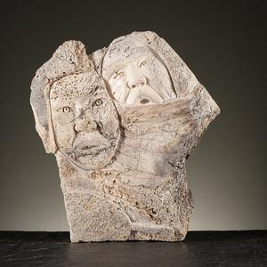 Inuit Whale Bone Sculpture