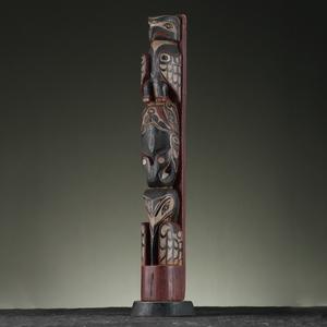 Kwakwaka'wakw Model Wood Totem Pole