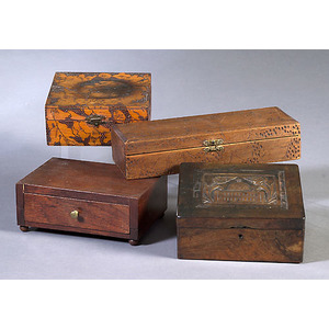 Pyro Glove Boxes & Carved Box,