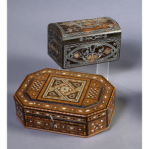 Two Fine Inlaid Anglo-Indian Document/Trinket Boxes,