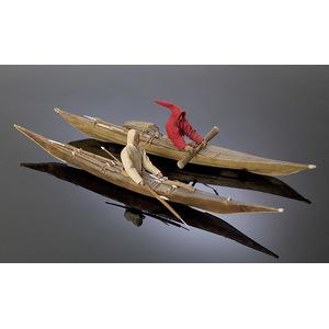 Eskimo Model Kayaks with Hunters,