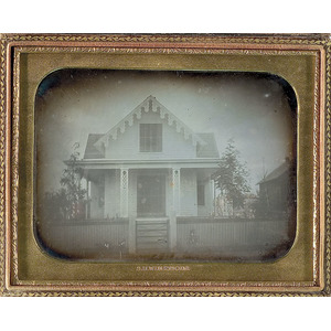 S.H. Whitmore Half-Plate Daguerreotype of an Early Mass. Home,