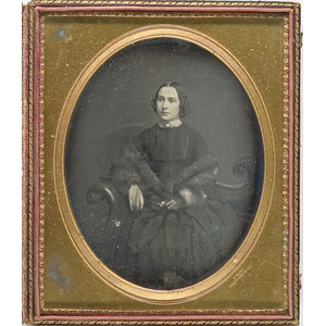Full Plate Daguerreotype of a Beautiful Young Lady,
