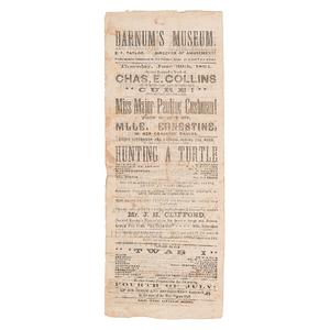 Pauline Cushman, Union Scout & Spy, Barnum's Museum Broadside