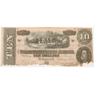 Confederate Ten Dollar Bill