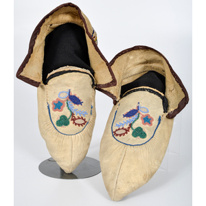 Athabascan Metis Beaded Hide Moccasins