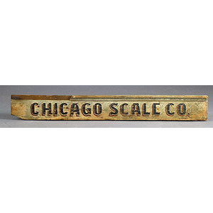 Chicago Scale Company Trade Sign,