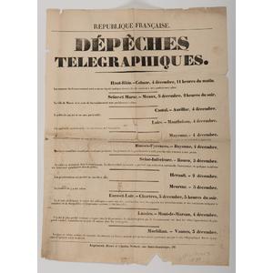 Napoleon Bonaparte Related Circular Plus, Property of N. Flayderman & Co.