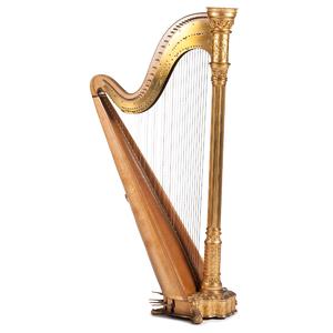 Lyon & Healy Gilt Concert Harp in Original Travel Case