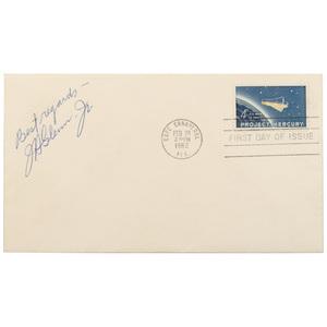 John Glenn Signed First Day Cover
