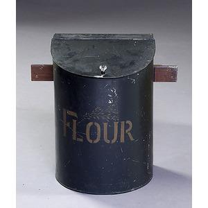 Japanned Wall-Mounted Flour Bin,