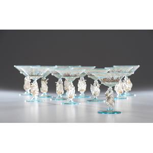 Venetian Glass Swan Stemware