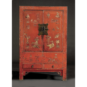 Chinese Lacquered Clothespress,