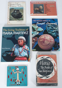 Books on Pueblo Pottery PLUS Pablita Velarde (Santa Clara, 1918-2006) Tile Coaster