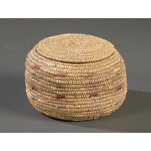 Eskimo Lidded Basket,