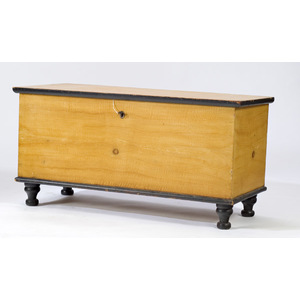 Lancaster County, Pennsylvania Blanket Chest in Original Yellow,