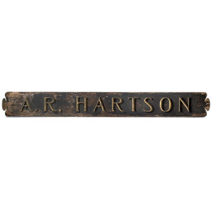 Large Trade Sign in Original Paint: A.R. Hartson,