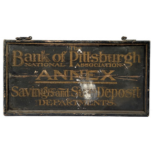 Bank of Pittsburgh Trade Sign,